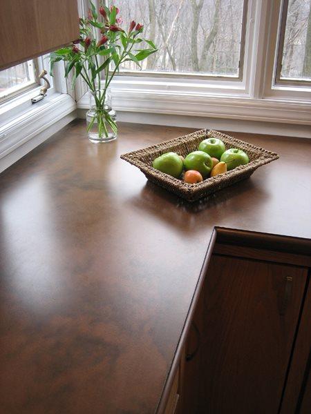 Brown, Matte Concrete Countertops Trueform Concrete Wharton, NJ
