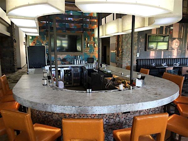 Commercial Bar, Horseshoe Countertop Concrete Countertops ACS/Paradise Concrete Design Studio Phoenix, AZ