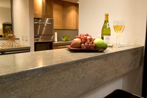 Concrete Bar Buffet Concrete Countertops Reaching Quiet Design Charlotte, NC