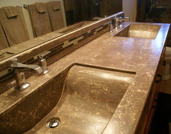 Concrete, Concrete Countertop, Bathroom Countertop, Decorative Concrete Concrete Countertops Deco Stone Concrete Turlock, CA