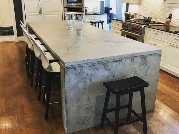 Concrete, Concrete Countertop, Countertop, Concrete Island, Kitchen Design Concrete Countertops O.A.S.I.S. Custom Concrete Designs Leominster, MA