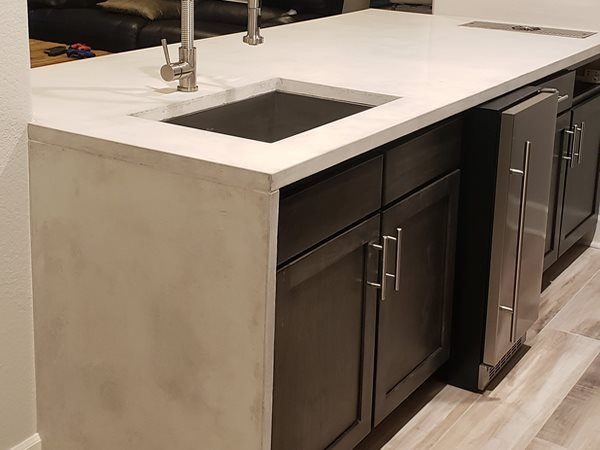Concrete, Concrete Countertop, Countertop, Kitchen Design, Kitchen Makeover, Decorative Concrete  Concrete Countertops Surface Concepts LLC Brighton, CO