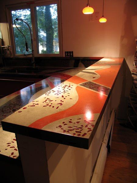 Countertop Inlays Concrete Countertops JM Lifestyles Randolph, NJ
