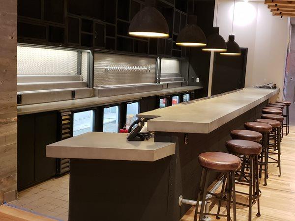 Custom Bar Top, Grey Concrete Concrete Countertops Surface Concepts LLC Brighton, CO