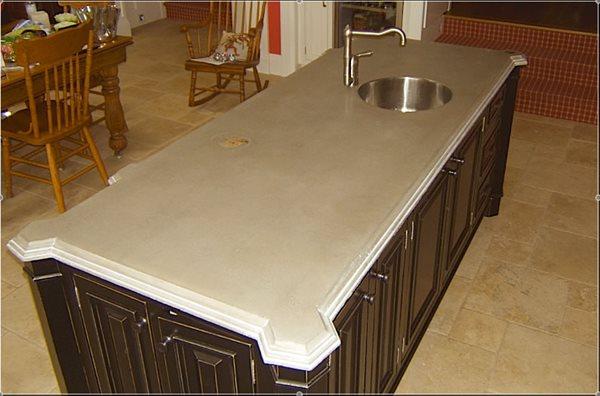 Edge Detail, Vegetable Sink Concrete Countertops Concrete Elegance, Inc. Vaughan, ON