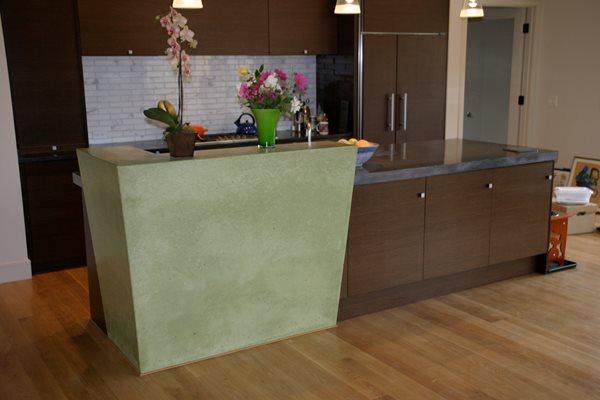 Green, Drain Board Concrete Countertops Alpha Stone Concrete Inc Greenfield, MA