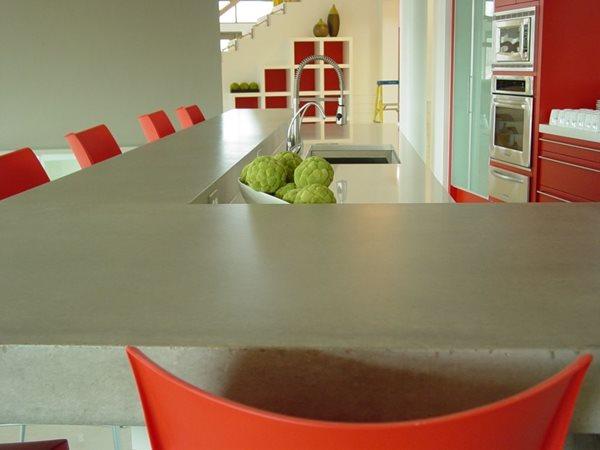 Grey Bar Concrete Countertops Nobel Concrete Jenison, MI
