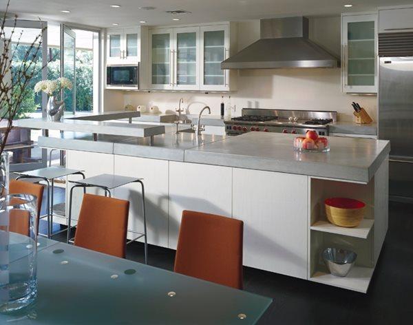 Grey, Counter Concrete Countertops ACS/Paradise Concrete Design Studio Phoenix, AZ