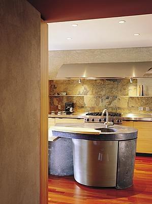 Grey, Industrial Concrete Countertops Cheng Design Products Inc. Berkeley, CA