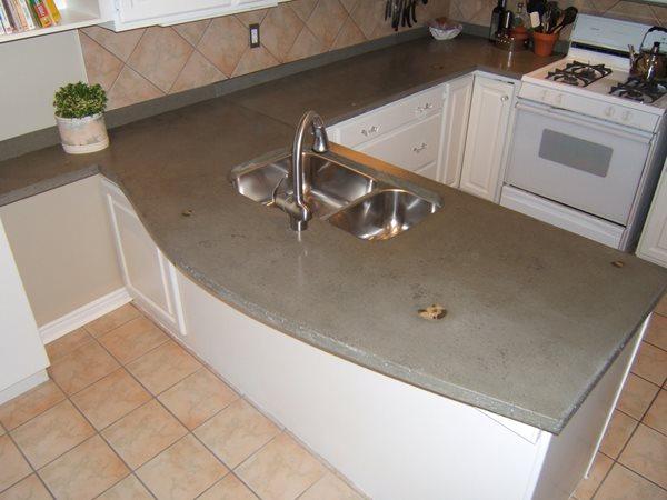 Grey, Inlays Concrete Countertops Concrete Elegance, Inc. Vaughan, ON