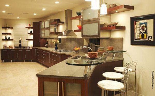 Grey, Sleek, Glass Bar Concrete Countertops Concrete -N- Counters Lutz, FL