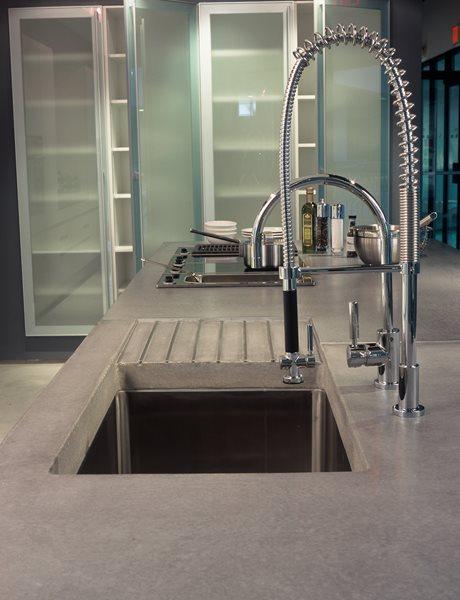 Industrial, Deep Sink Concrete Countertops Art and Maison Inc. Miami, FL