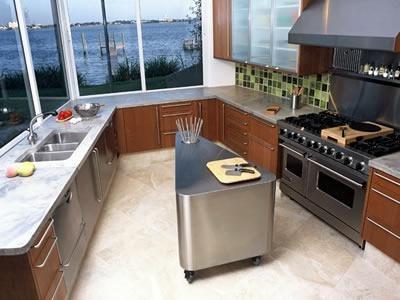 Marble, Grey Concrete Countertops Art and Maison Inc. Miami, FL