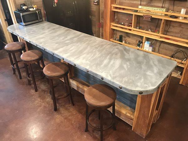 Marbled, Bar Top Concrete Countertops William B Carlisle Design Tecumseh, OK