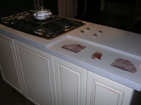 Off White, Liberty Bell Concrete Countertops Solid Solutions Studios Fresno, CA