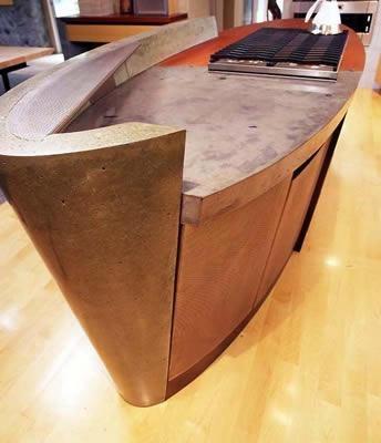 Oval, Orange, Grey Concrete Countertops Cheng Design Products Inc. Berkeley, CA