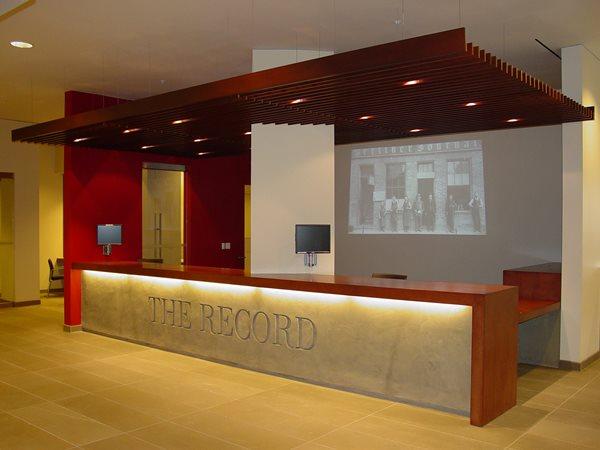 Reception Desk, Wood Concrete Countertops SmoothCrete, Inc. Mitchell, ON