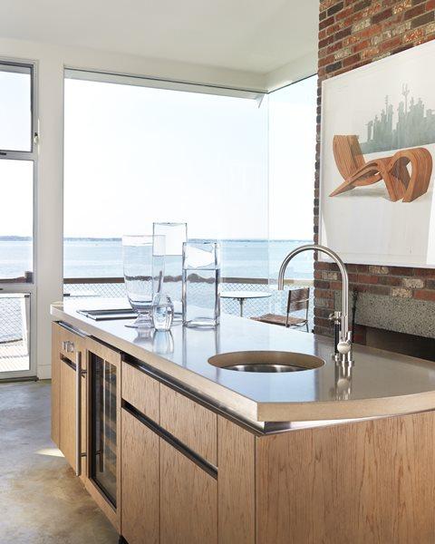 Smooth Concrete Countertop, White Countertop Concrete Countertops Livingstone Concrete Studios Lincoln, RI