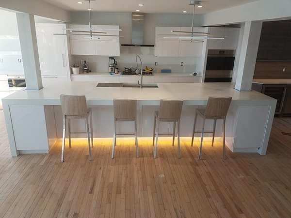 White, Kitchen, Counters Concrete Countertops Concrete Encounter, LLC Fairfield, CT