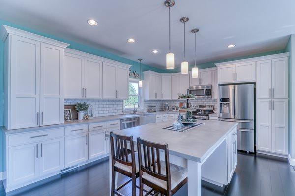 White, Kitchen Countertops Concrete Countertops Integrity Concrete LLC Marydel, DE
