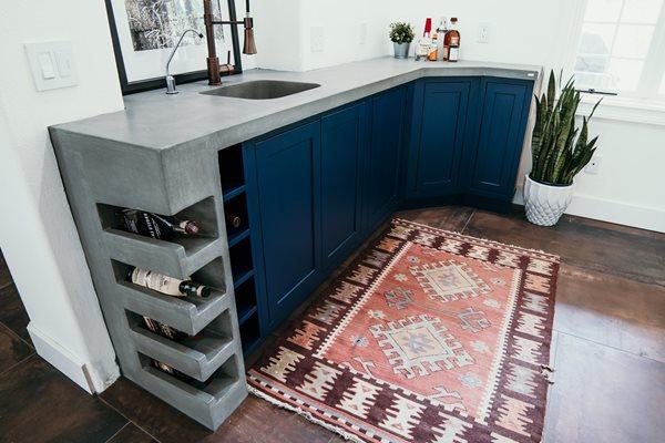 Wine Rack, Bar, Counter Concrete Countertops Price Concrete Studio Orlando, FL