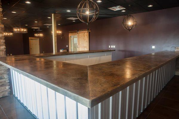 Winery Countertops, Custom Concrete Concrete Countertops Quest-Crete Studios North Jackson, OH