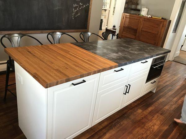 Wood And Concrete Countertop Concrete Countertops form2table Coraopolis, PA