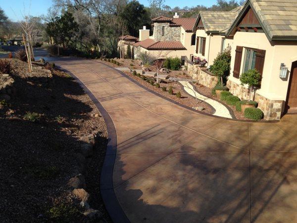 Driveway, Stained Concrete Driveways Concrete911 Roseville, CA
