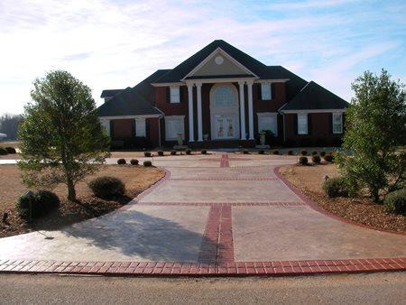 Entrance, Driveway Concrete Driveways Best Stamped Concrete Inc. Huntsville, AL