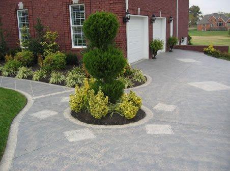 Entrance, Driveway Concrete Driveways Concrete Mystique Engraving Antioch, TN