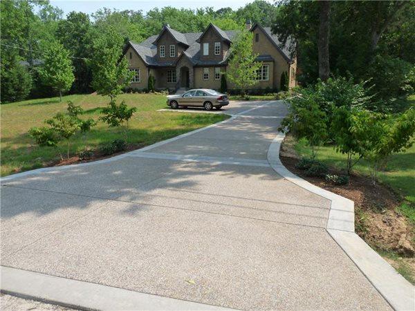 Exposed Aggregate Driveway Concrete Driveways Demonbreun Construction, LLC Nashville, TN