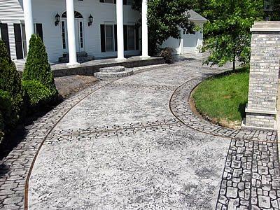 Gray Drive, Cobblestone Concrete Driveways Master-Crete Inc. East Carondelet, IL