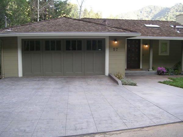 Gray, Stamped Concrete Driveways Frank Zip San Francisco, CA