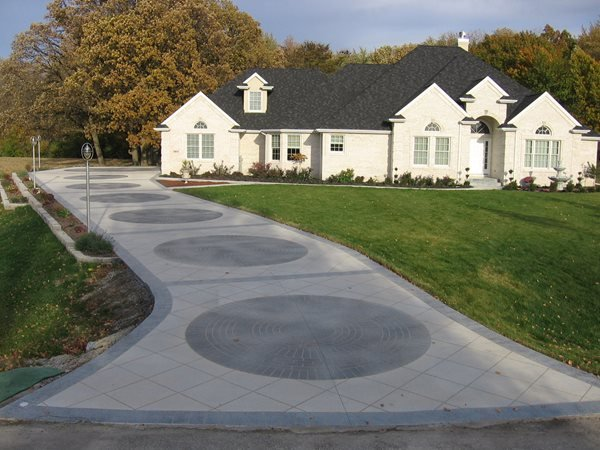 Grey Brick Concrete Driveways Concrete Illusions Inc Kankakee, IL