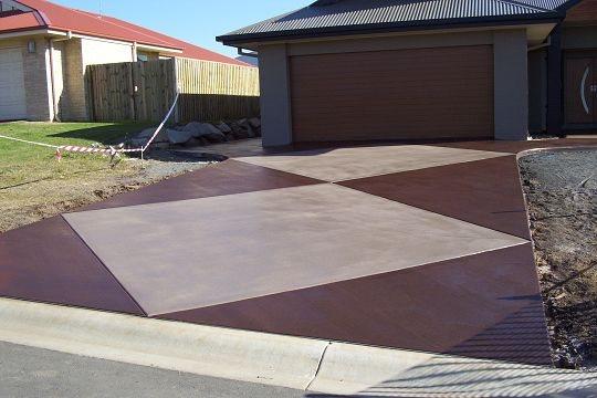 Large Diamonds Concrete Driveways Hendersons Concreting Services pty Ltd New South Wales, Australia