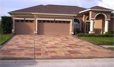 Patterned Driveway Concrete Driveways Ideal Concrete Designs Spring Hill, FL