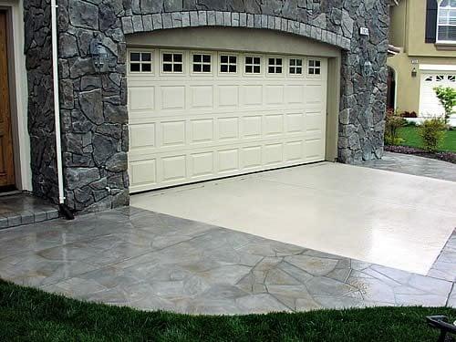 Patterned Driveway Concrete Driveways Richardson's Concrete Effects Carmichael, CA