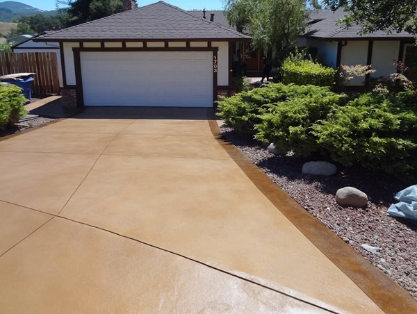 Resurfaced Driveway Concrete Driveways Concrete Product Resource Santa Rosa, CA