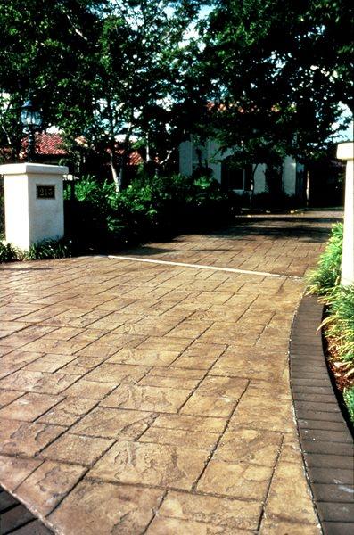Sand, Square Stone Concrete Driveways Davis Colors Los Angeles, CA