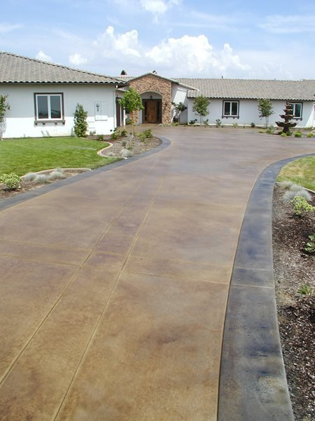 Scored, Coffee Concrete Driveways Surfacing Solutions Inc Temecula, CA