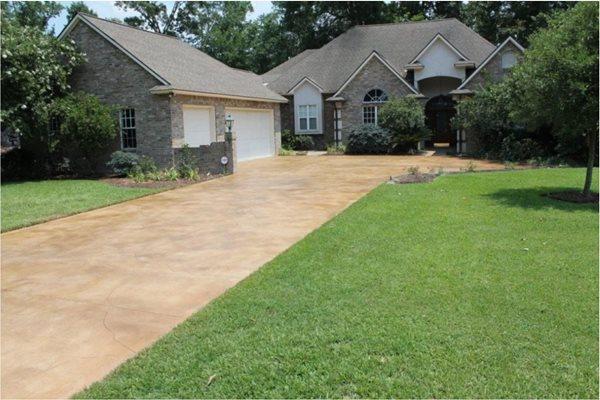 Stained Concrete Driveway Concrete Driveways FNA Concrete Design LLC Oakton, VA