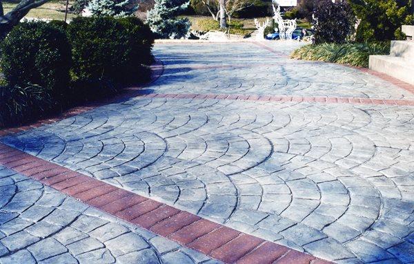 Stamped Concrete Patio Concrete Driveways AMCON, LLC Gaithersburg, MD
