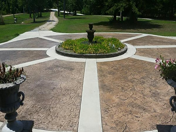 Stamped Driveway, Circle Drive Concrete Driveways PennyEarned, LLC Montgomery, AL