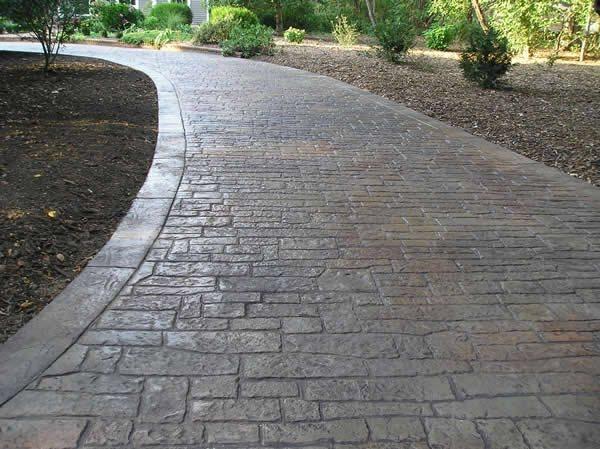 Stamped, Small Stone Concrete Driveways Split-Rok Construction Co Lakewood Township, NJ