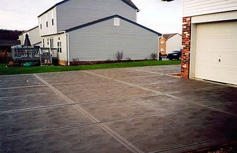 Swirl, Joints Concrete Driveways J.J.I. Concrete Construction Pittsburgh, PA