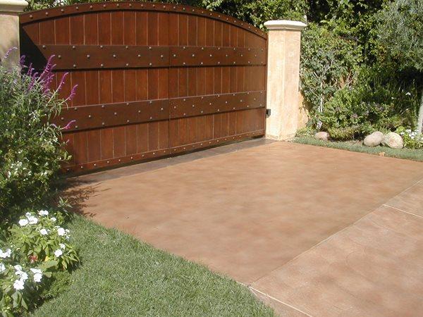 Tan, Simple Concrete Driveways Concrete FX Agoura Hills, CA