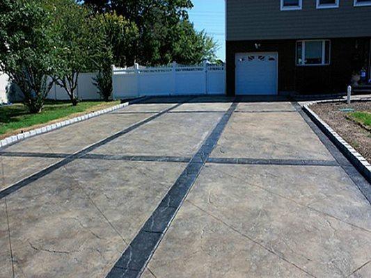 Window Pane Pattern, Driveway Concrete Driveways Starburst Concrete Design Brewster, NY