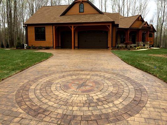 Woods, Cabin, Stamped Driveway, Brown Concrete Driveways Greystone Masonry Inc Stafford, VA