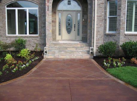 Entrance, Path, Walkway Concrete Entryways Concrete Mystique Engraving Antioch, TN