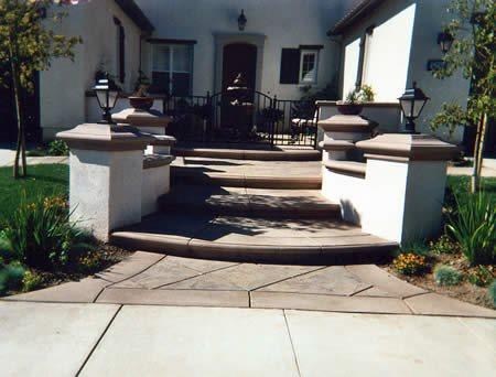Entry, Stamped Concrete Entryways Ikon Concrete Design Sylmar, CA